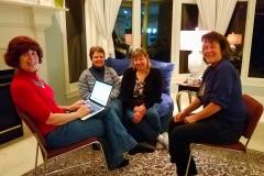 Mit Maureen Clyne, Teresa Lauderdale und Kathleen Lahey